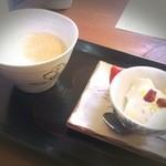 日光くじら食堂 - ランチの飲み物とデザート