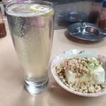 江戸っ子 - ボール、たぬき豆腐