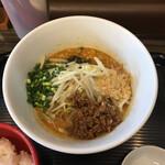 担担麺家 たけうち - 料理写真:汁なし担々麺&白飯 980円