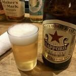 長平 - 「瓶ビール」600円也。