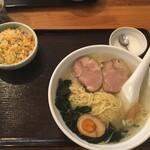 龍祥軒 - 塩ラーメン+半炒飯