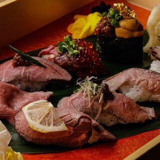 豊富な肉寿司が味わえる☆