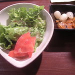 日比谷Bar DINING - サラダとらっきょうと福神漬