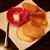 チーズ家 Quelle - 料理写真:お通し(さつまいもチップとマスカルポーネ)