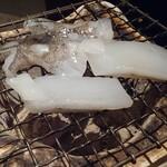 和食Dining うお座 - アオリイカの七輪焼き