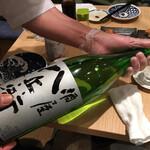 鮨・酒・肴 杉玉  - 酒屋八兵衛山廃純米¥439