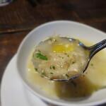 トラットリア・モキチ - スープ:帆立と地野菜のミネストローネ