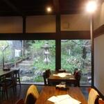 トラットリア・モキチ - 店内からの景観