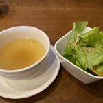 かまやカフェ・デュ・レヴァベール - セットスープ サラダ