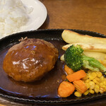 かまやカフェ・デュ・レヴァベール - THE NIKKO ハンバーグセット 1,500円