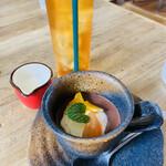 Cafe MOE'T - 日替わりのプチデザートはプラス料金 この日はチョコプリン