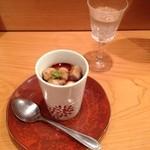さぬきや - フォアグラの乗った茶碗蒸しをオススメの日本酒で