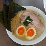 麺屋 あきのそら - 鶏煮干し全部乗せ。麺屋あきのそら(岡崎市)食彩品館.jp撮影