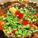 カラシビつけ麺 鬼金棒 - 並盛 265gだけど、これの半分にした 特製カラシビつけ麺  1,220円