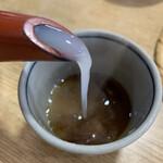 西乃茶や - 【2020.2.27】トロミのある蕎麦湯。