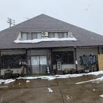 西乃茶や - 【2020.2.27】雪の舞う店舗。