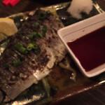 島豚・琉球牛 燦 別邸 - 九州産炙りしめさば