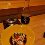 鮨 歴々 - お店オリジナルの日本酒とばっちり( ´∀` )b