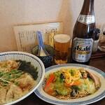 開花亭 - ワンタン麺セット