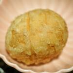 喜久や - 味玉天ぷら トリュフ塩で