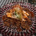 四川中華 GOCHI - 蒸し鶏の特製肉味噌のせ