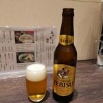 あみだそば 福の井 - 二日酔いでもビールいきます!