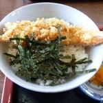 めん処釜文 - ざるうどんとミニ天丼のランチのミニ天丼