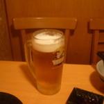 居食屋 くし坊 - 生ビール中キリン一番搾り(一体何杯飲んだのでしょうw)