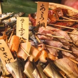 極上魚焼き串!1串50g130円~※同種2串からm(__)m