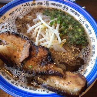 ちゅるるちゅーら - 料理写真:炭焼チャーシュー麺(青)
