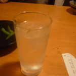 居食屋 くし坊 - 黒糖焼酎朝日水割り二杯目