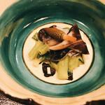 味 竹林 - 分葱と鳥貝のヌタ