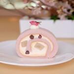 むすびcafé - 「桜香る塩わらび餅ロール」