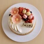 むすびcafé - 「春花」ホールケーキ終了しました