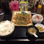 えん弥 - 青椒肉絲+ライスセット