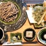 とき庵 - 土曜限定メニューの十割太打ち蕎麦天ぷら付