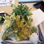 戸隠蕎麦やまざと - 山菜の天ぷら 750円