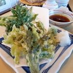 戸隠蕎麦やまざと - 山菜の天ぷら