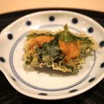 天白 - 北海道ウニのシソ巻き
