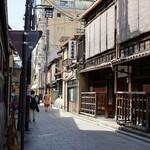 味 ふくしま - 祇園の街並み