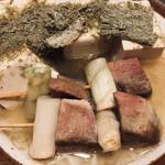 蒲田 牛タン いろ葉 - おでん(牛タン葱間&豆腐のとろろこんぶ)