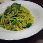 テラコッタ - サーモンと菜の花のジェノベーゼ