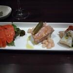 テラコッタ - 前菜。イカのソテーが美味で舌が震える
