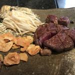ステーキ円山 - フィレ肉焼き上がり