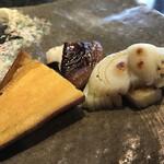 ステーキ円山 - 安納芋、椎茸、玉ねぎ