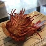 ステーキ円山 - 海老を塩で