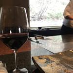ステーキ円山 - 赤ワインおかわり