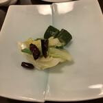 中国珍味 調鼎 - お通しの泡菜