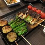 炭火串焼 鶏次 - 野菜焼き