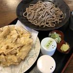 一膳 - ゴボウ天そば(田舎)850円